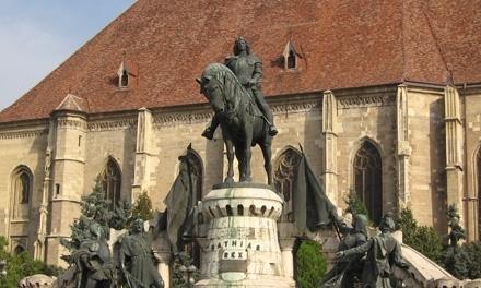 standbeeld koning mátyás in Cluj-Napoca (Kolozsvár) Roemenië