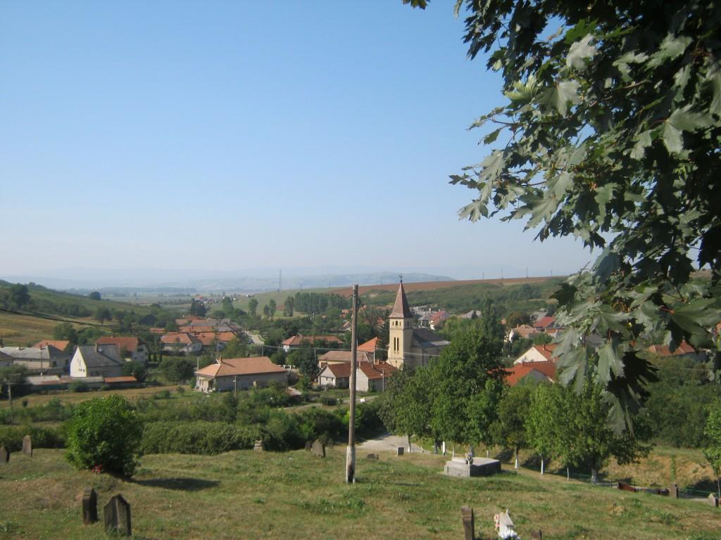 Uitzicht op het dorp