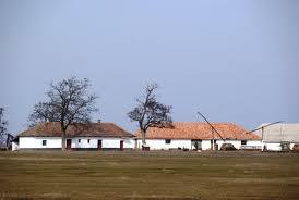 Een typische Hongaarse boerderij op de poesta (tanya)