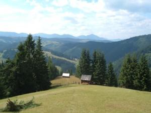 landschap rond Gyimesközéplok (Transsylvanië)